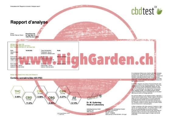 analyse highgarden 10% huile