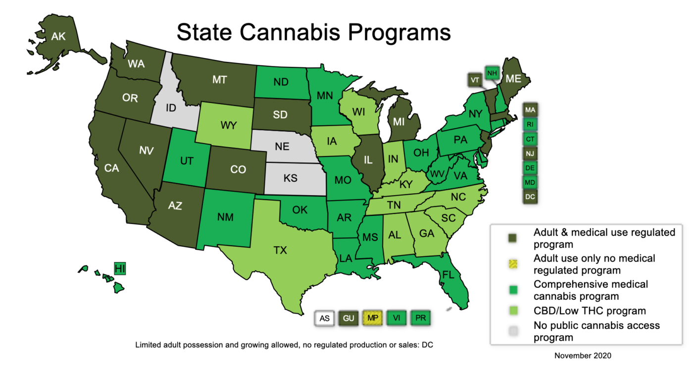 Cannabis law USA states