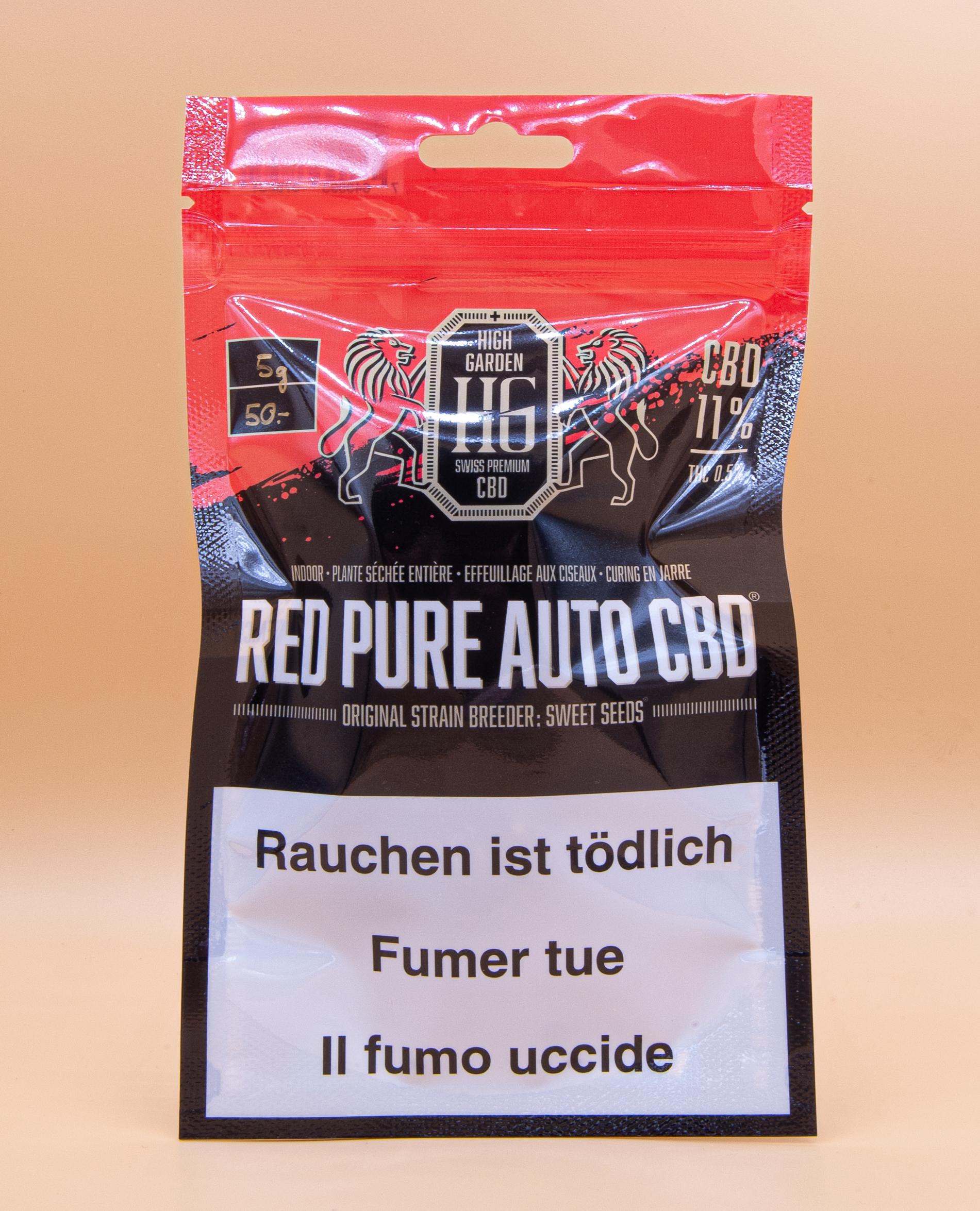 5 grammes red prue auto cbd